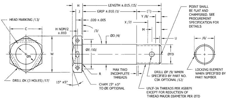 Nas Bolts Manufacturer Distributor Nas6203 Nas6210