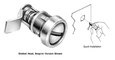 Slotted head snap in version