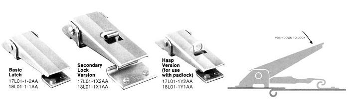 Basic Hasp Secondary Lock Versions