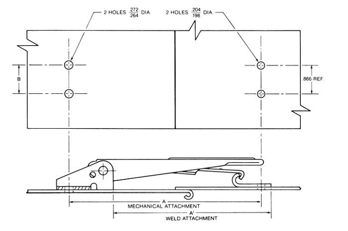 mechanical/weld attachments