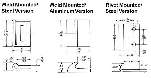 49L rivet, weld mounted / steel, aluminum