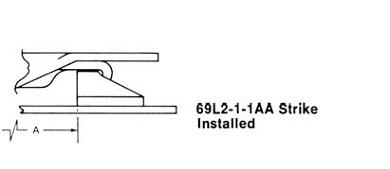 69L2-1-1AA strike installed