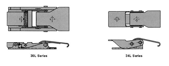 light duty tension latches