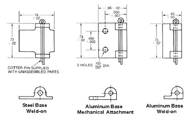 steel and aluminum bases