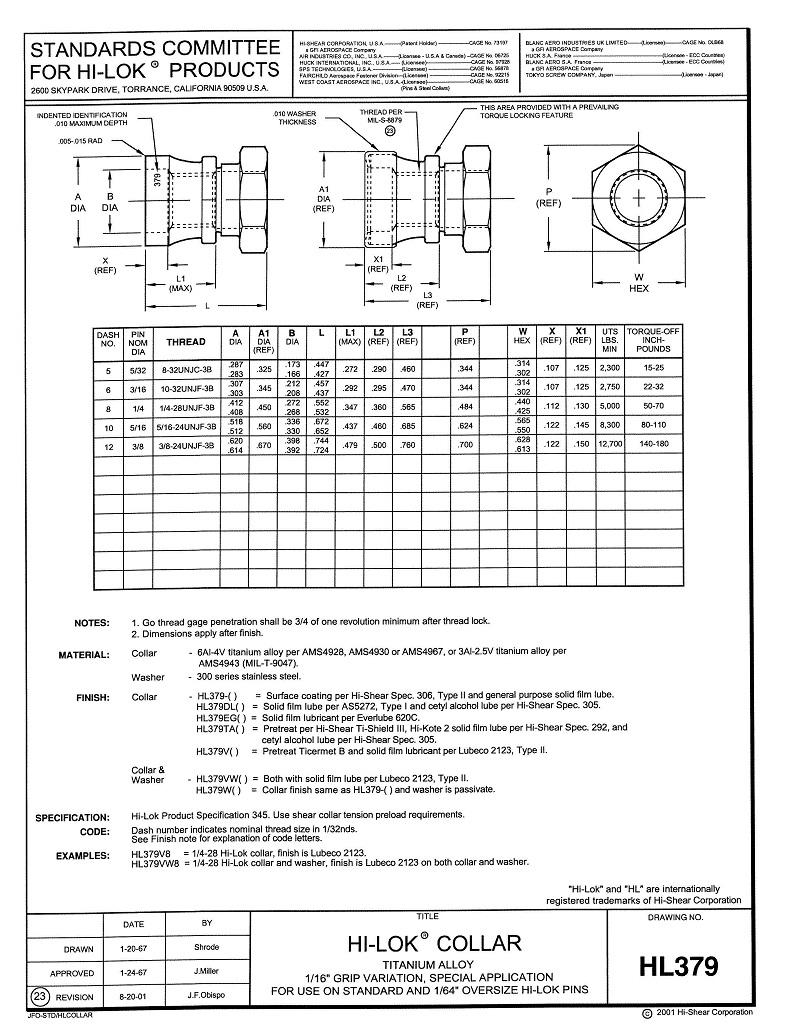 hi-lok collar hl379