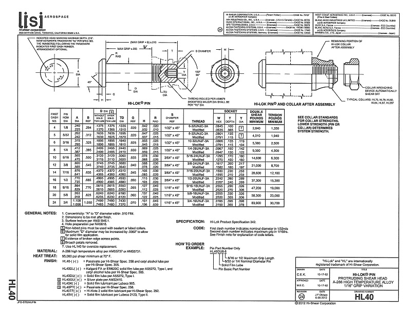 hi-lok pin hl40