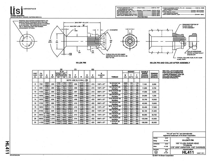hi-lok pin hl411 P1
